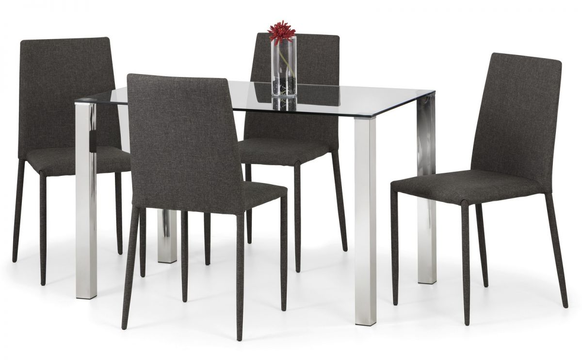 Enzo amp Jazz Grey Dining Set Julian Bowen Limited : 1492007255enzo table jazz chair slate grey linen from julian-bowen.co.uk size 1200 x 750 jpeg 70kB
