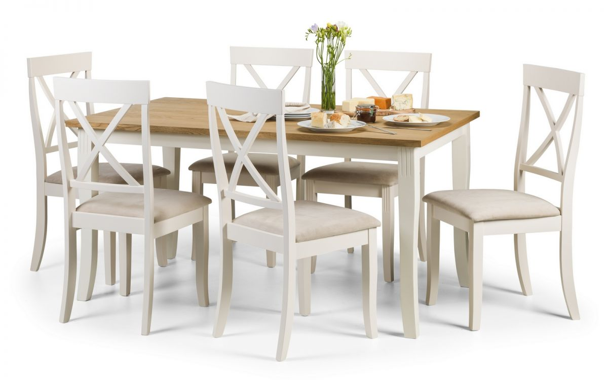 Davenport Rectangular Dining Set Julian Bowen Limited : 1492009679davenport dining set white and oak veneer from julian-bowen.co.uk size 1200 x 750 jpeg 68kB