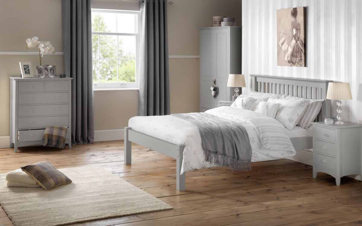Barcelona Bed Low Foot End Dove Grey Julian Bowen Limited
