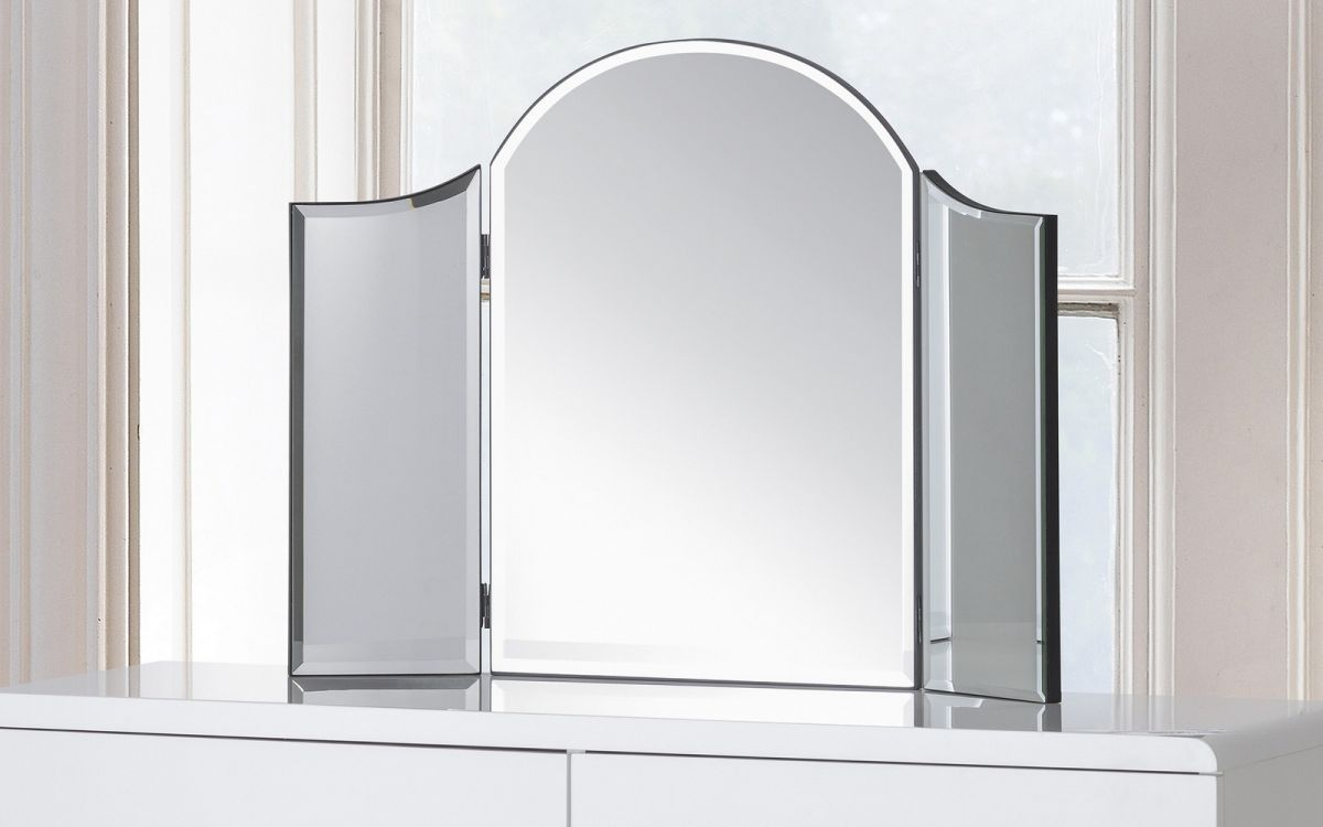 Canto curved dressing table mirror julian bowen limited for Mirror 750 x 1200