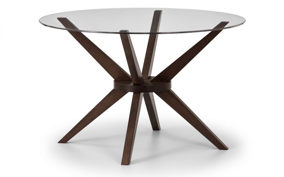 glass top round dining table. Chelsea Glass Top Dining Table Round