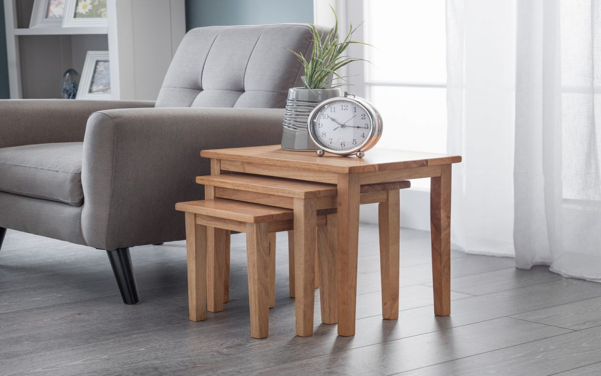 Light Oak Nest Of Tables Image Collections Bar Height
