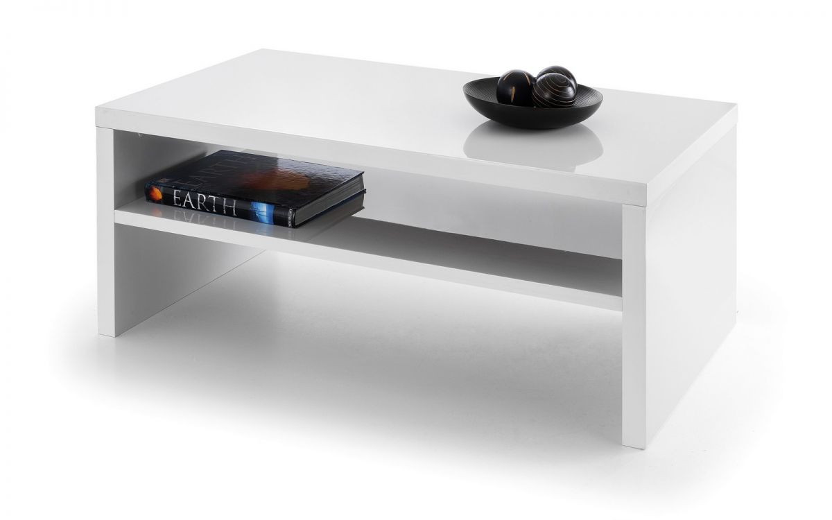Metro high gloss coffee table white julian bowen limited for White glass coffee table