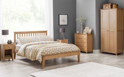 Oak//Ivory Julian Bowen Portland 3+2 Drawer Chest Wood