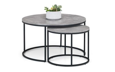 Staten Round Nesting Coffee Table Julian Bowen Limited