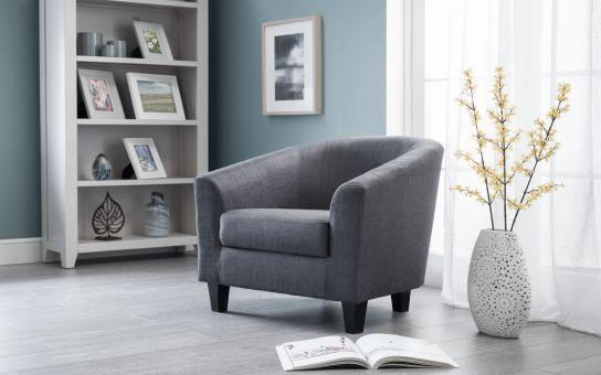 Mila Velvet Accent Chair Amp Stool Grey Julian Bowen Limited