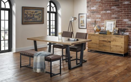 Brooklyn Dining Occasional Julian, Industrial Look Dining Room Chairs