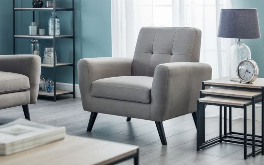 It Is Impeccably Tailored In A Smart Mid Grey Linen Fabric The Range Incorporates An Armchair Two Seater Sofa Three And Sofabed Monza